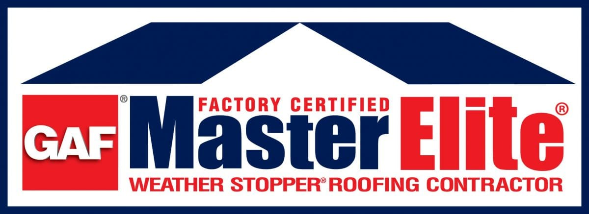 """""""Factory Certified GAF MasterElite Weather Stopper Roofing Contractor"""""""